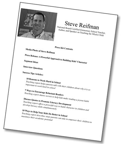 Steve Reifman's Press Kit